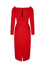 Load image into Gallery viewer, Alice Dress Red Wool Crepe
