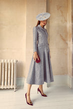 Load image into Gallery viewer, Annie Coat Dress Moonstone Blue Jacquard