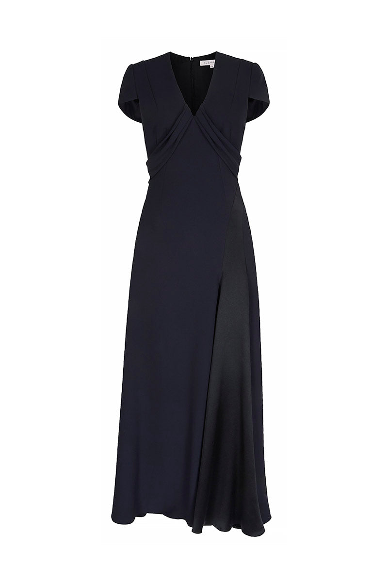 Celeste Evening Dress Navy and Black