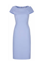 Load image into Gallery viewer, Colette Sleek Dress and Capelet Cornflower Wool Crepe