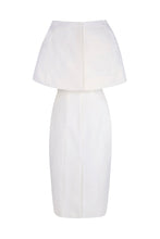 Load image into Gallery viewer, Colette Sleek and Capelet Dress Ivory Wool Crepe