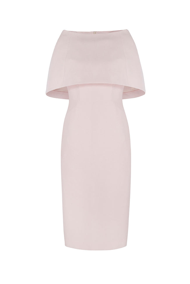 Colette Sleek and Capelet Dress Pink