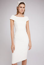 Load image into Gallery viewer, Colette Sleek Dress Ivory Wool Crepe