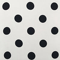Cream And Black Coin Dot Silk Twill
