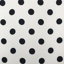 Load image into Gallery viewer, Cream And Black Coin Dot Silk Twill