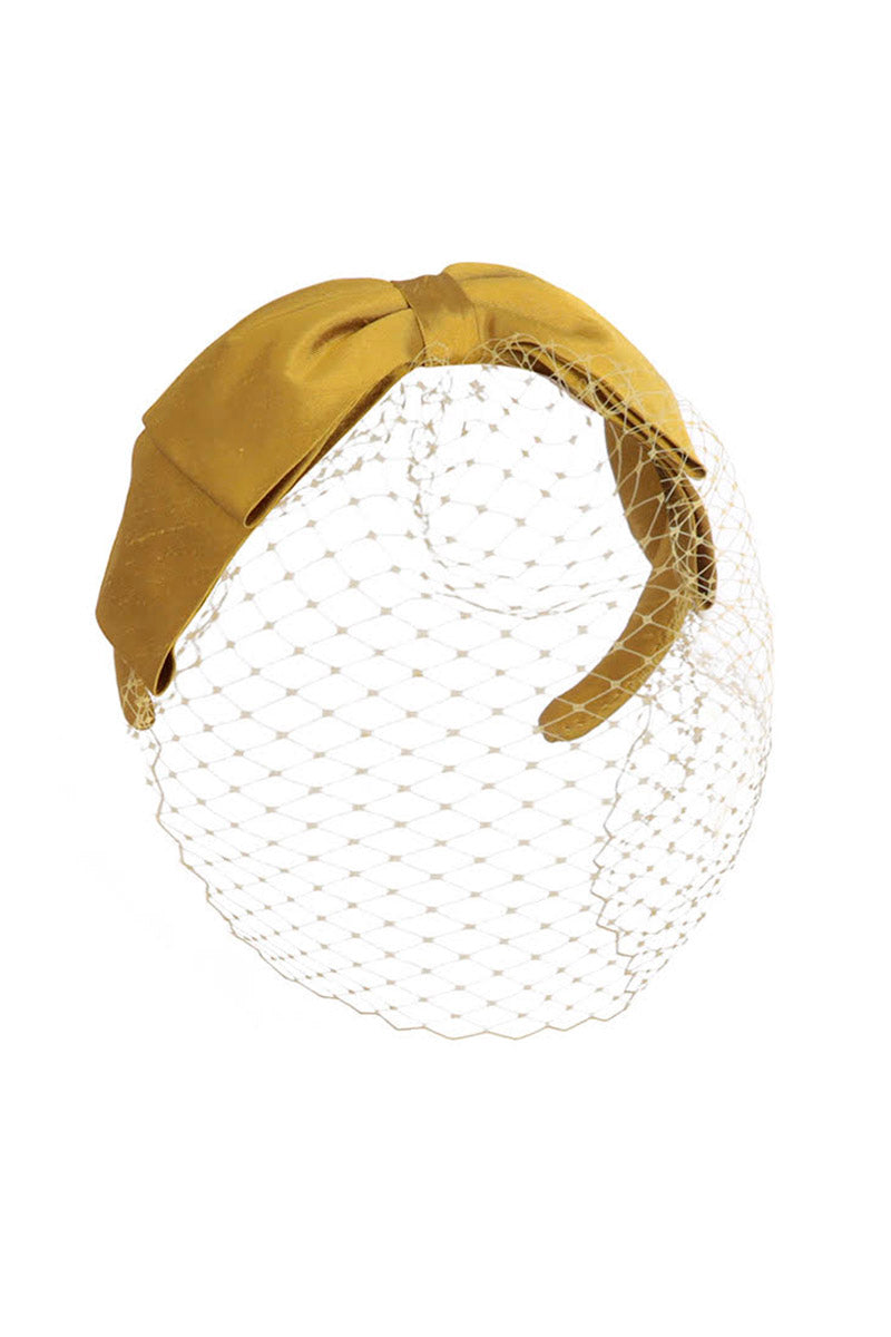 Dauphine Bow Head Band Ochre