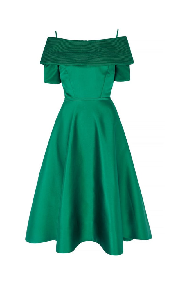 Debutante Emerald Dress with Sleeves
