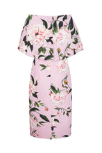 Load image into Gallery viewer, Demi Shift Fine Art Floral With Capelet Soft Pink