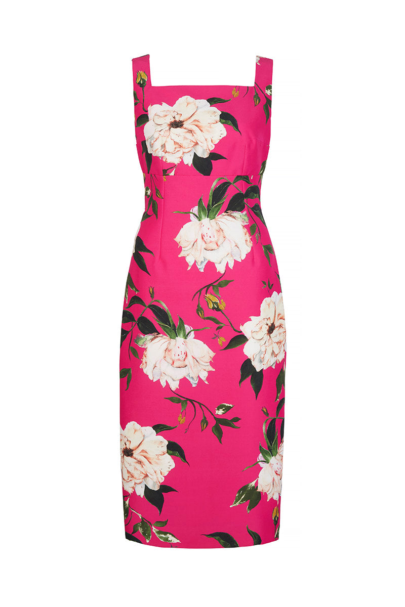 Demi Shift Fine Art Floral Hot Pink (Limited Edition)