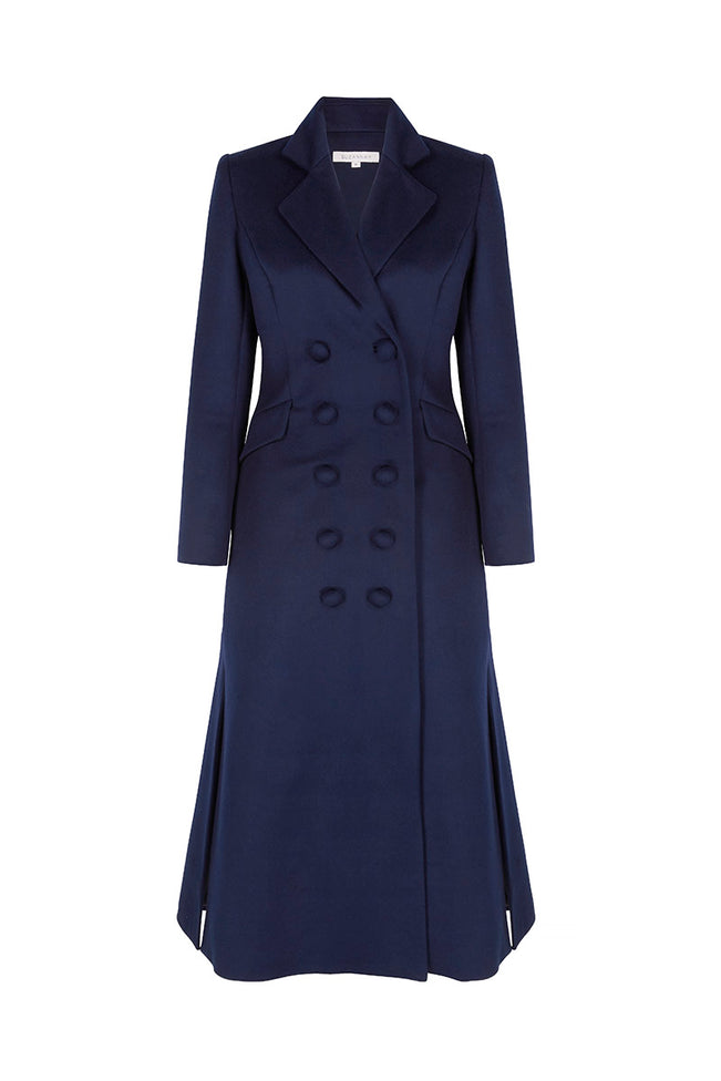 Double Breasted Wool Midi Coat