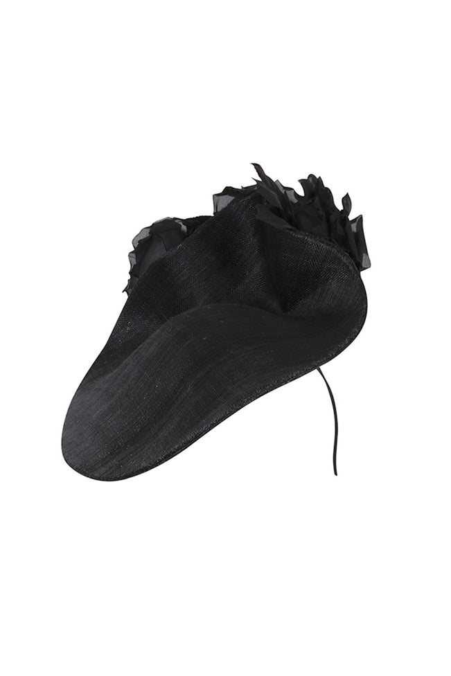 Floral Wave Hat Black