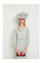 Load image into Gallery viewer, Silk Crepe Soft Cowl Neck Shift Dress