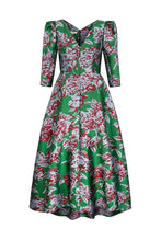 Load image into Gallery viewer, Evelyn Dress Ortensia Jacquard