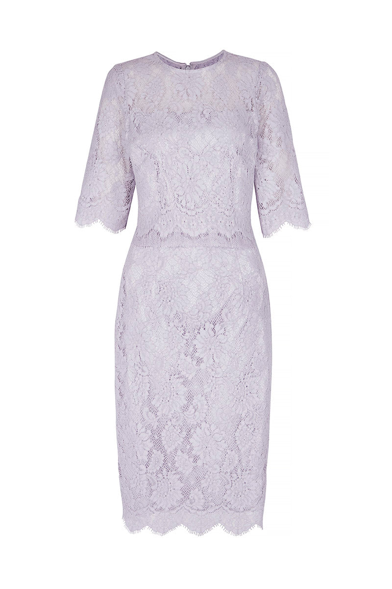 Cecile Lace Dress French Blue