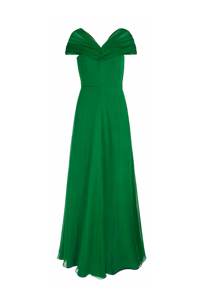 Crystalline Gala Dress Green