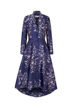 Load image into Gallery viewer, Hunter Coat Navy Japanese Flowers