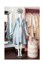 Load image into Gallery viewer, The Hunter Coat Raw Silk Alice Blue