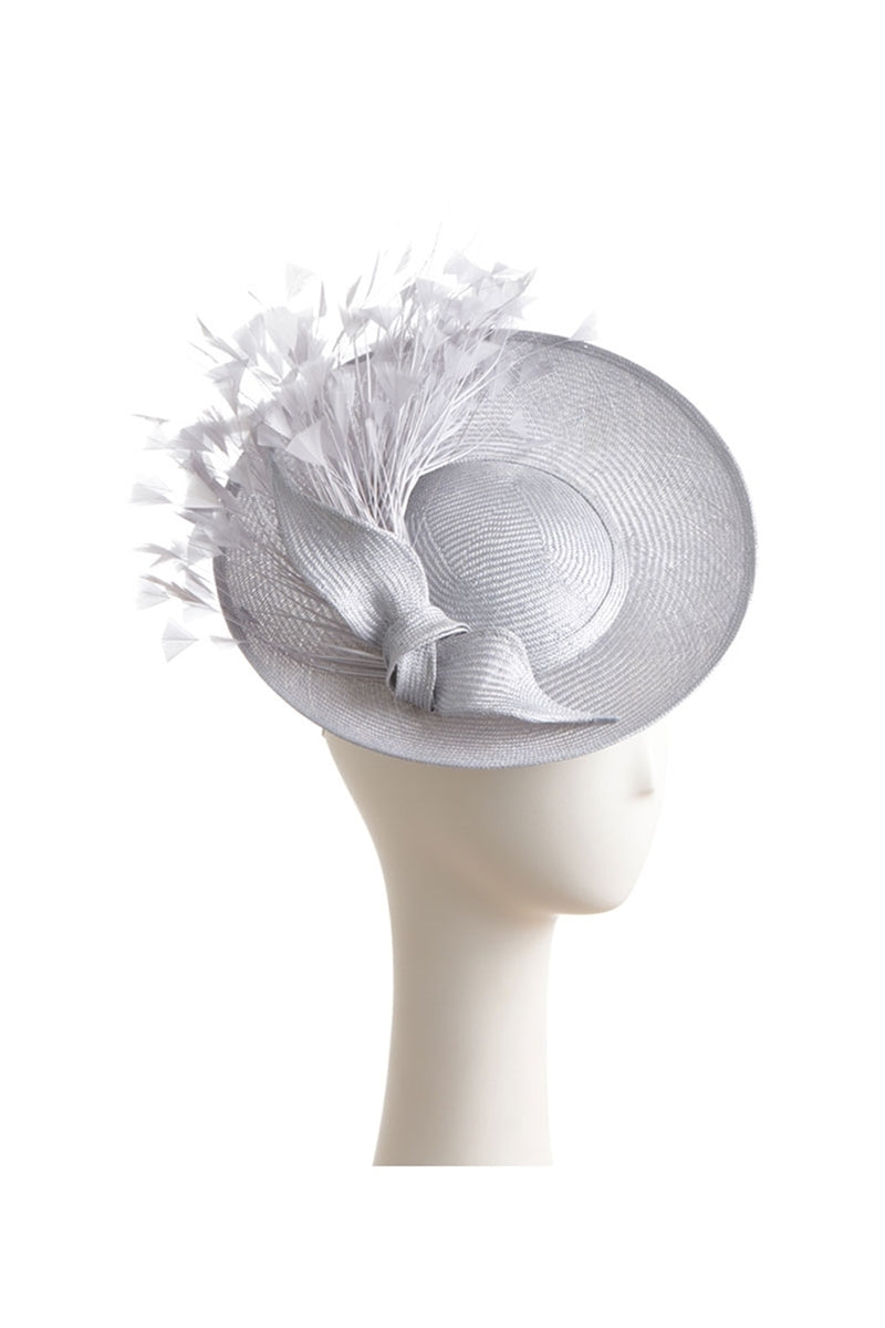 Small Disk Saucer Hat Knot and Feathers