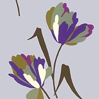 Load image into Gallery viewer, Lilac Tulips Crepe De Chine