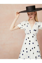 Load image into Gallery viewer, Dalmatian Dot Midi Length Tea Dress