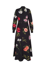 Load image into Gallery viewer, Ethereal Floral Silk Midi Tea Dress