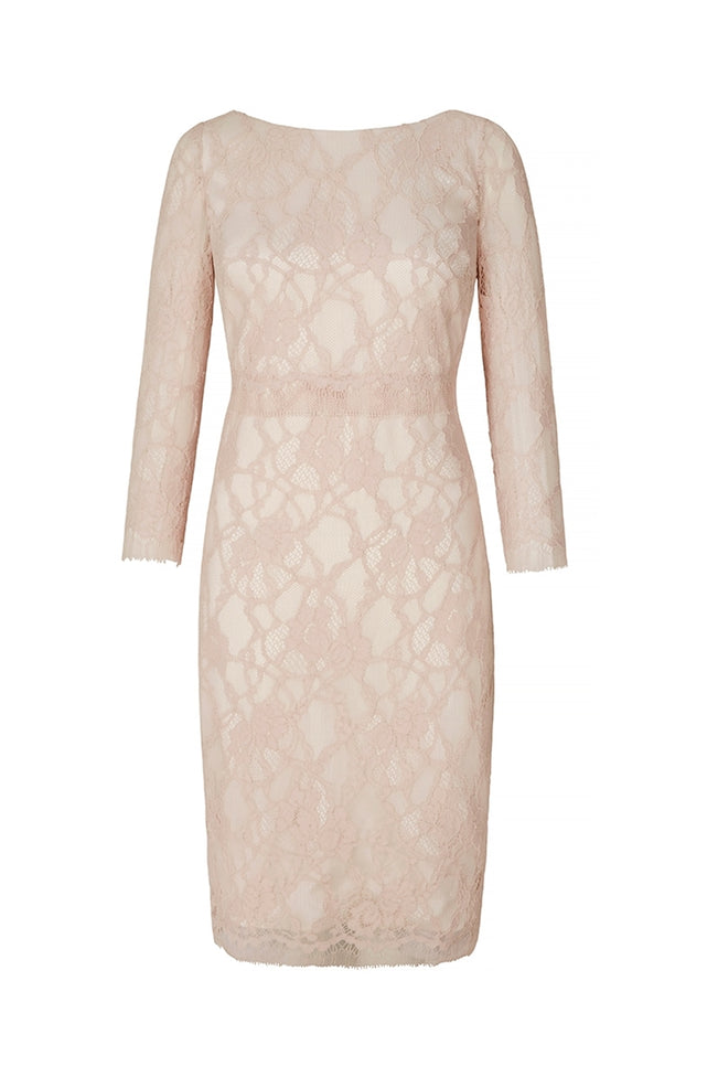 Leavers Lace Shift Pink