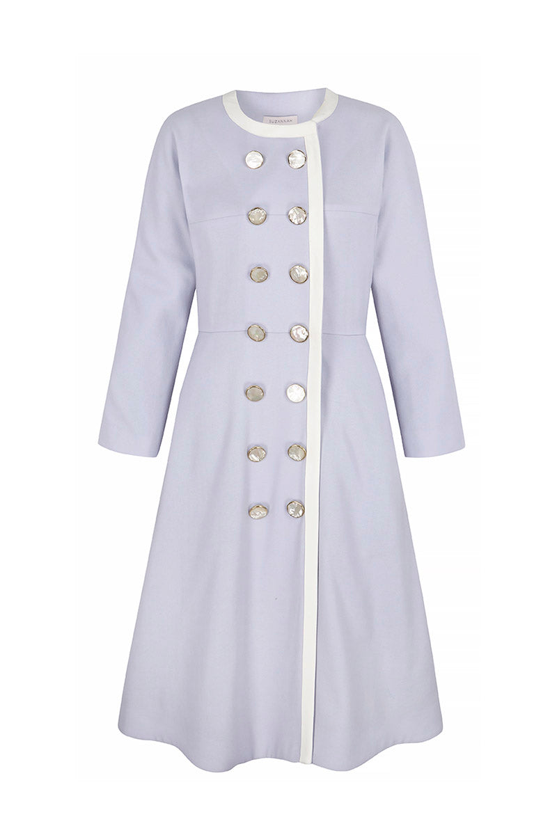 Marnie Coat Dress Powder Blue