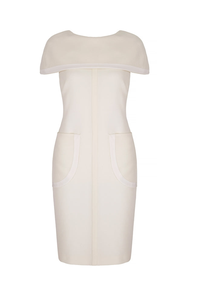 Morgan Cape Shift Dress Ivory