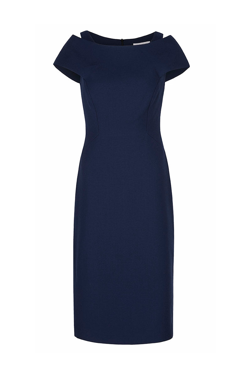 Colette Sleek Navy Wool Crepe