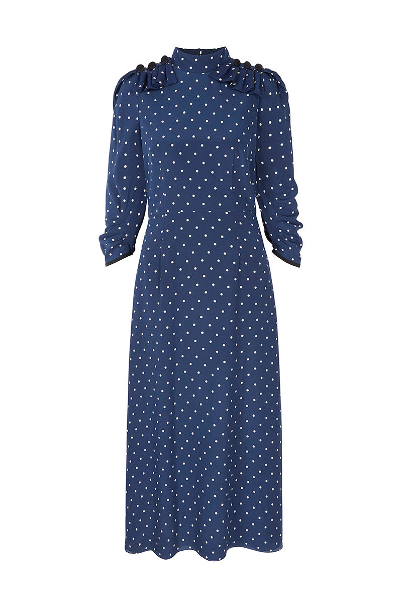 Nea Midi  Dress Polka Dots