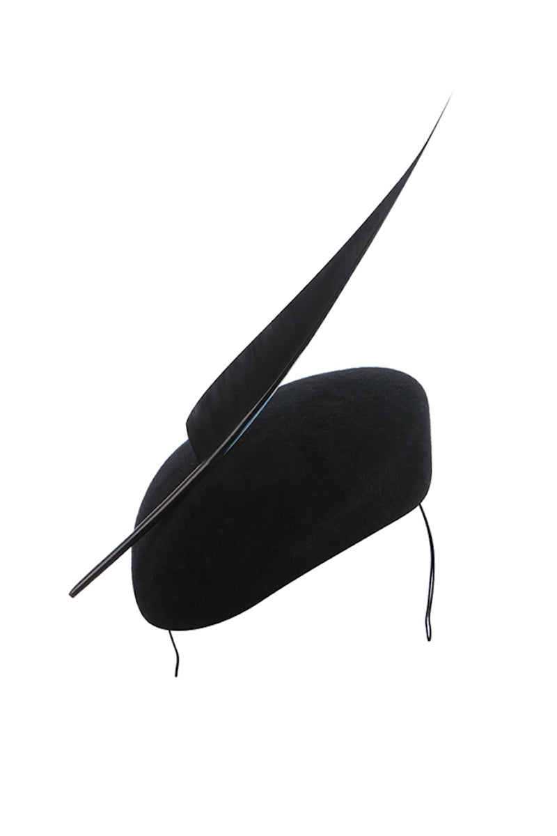Newmarket Feather Pill Box Black