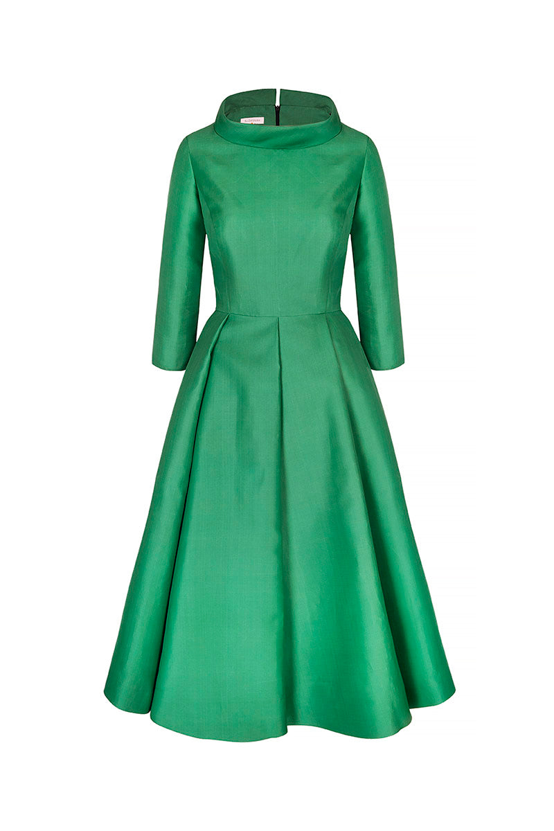 Silk Gazar Obsession Ballerina Dress Apple Green
