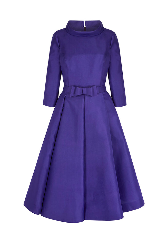 Silk Gazar Obsession Ballerina Dress Purple
