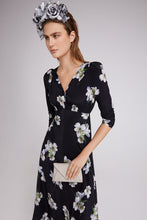 Load image into Gallery viewer, Peace Lily Silk Tea Dress Midi Length