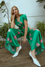 Load image into Gallery viewer, Persephone Printed Jumpsuit Green Sustainable