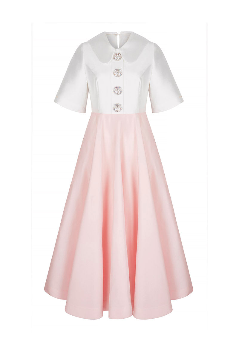 The Courtauld Dress Pink and White
