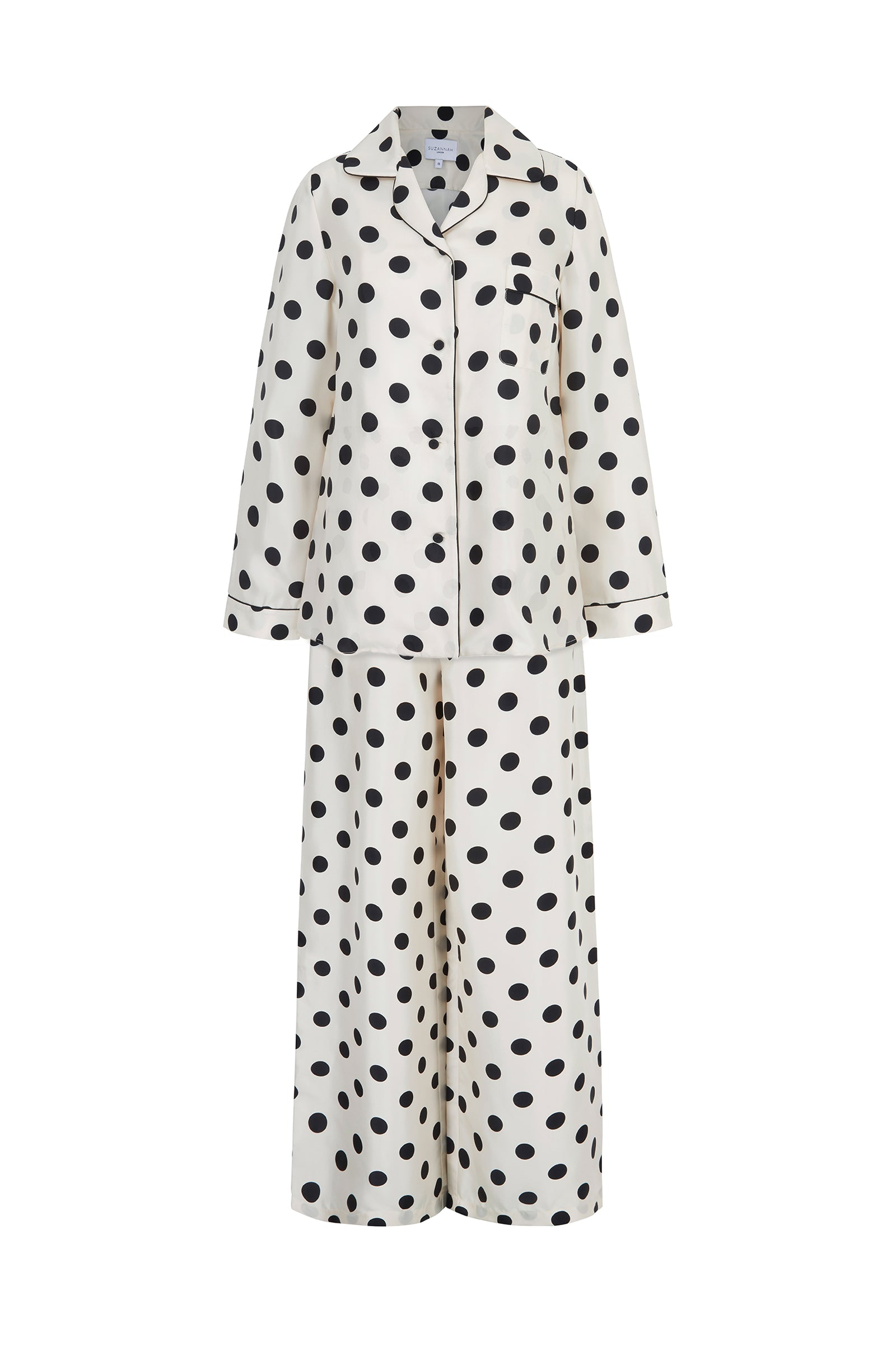 Silk Polka Dot Pyjama Set