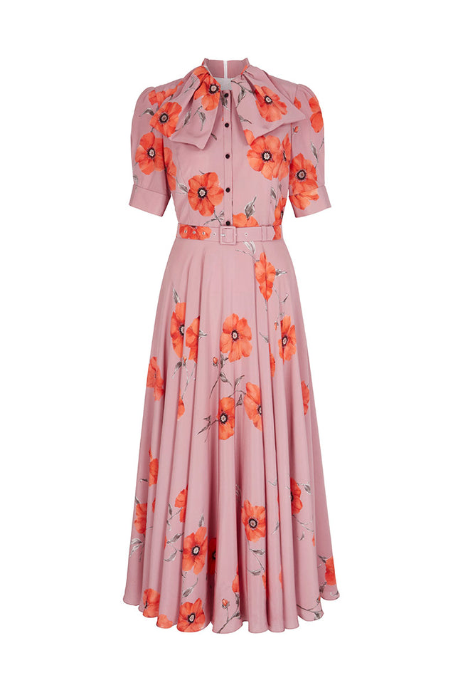 Allison Dress Poppy Print