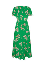 Load image into Gallery viewer, Floral with Bee Silk Midi Tea Dress