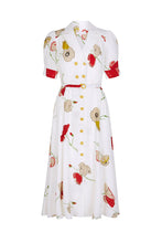 Load image into Gallery viewer, Flippy Wiggle Dress Vintage Poppy Print