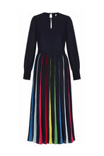 Load image into Gallery viewer, Rainbow Collins Midi Dress