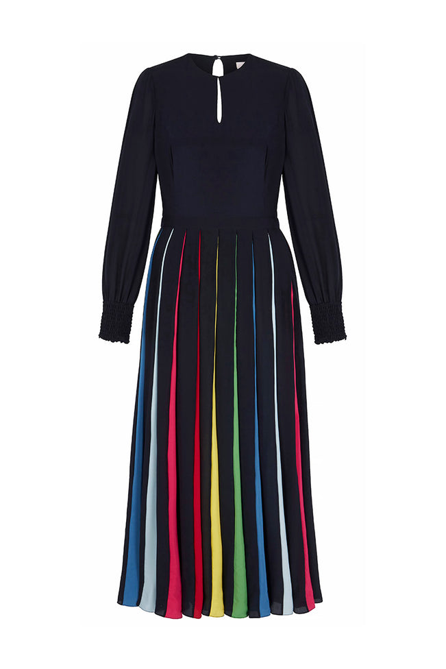 Rainbow Collins Midi Dress