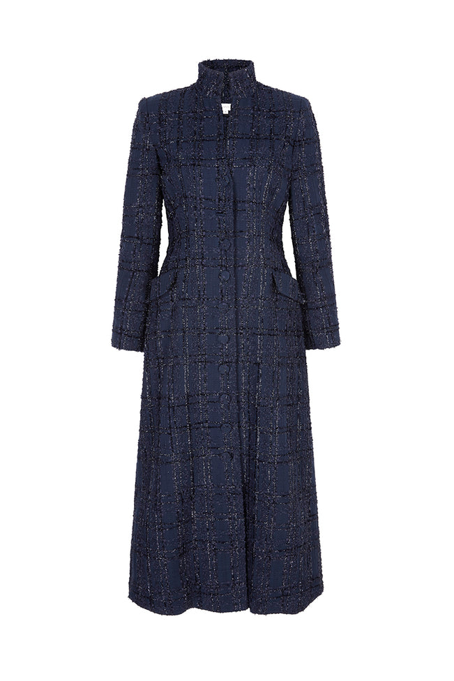Redley Coat Metallic Navy Tweed