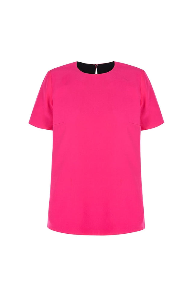 Reverse Pink and Black Silk Tee