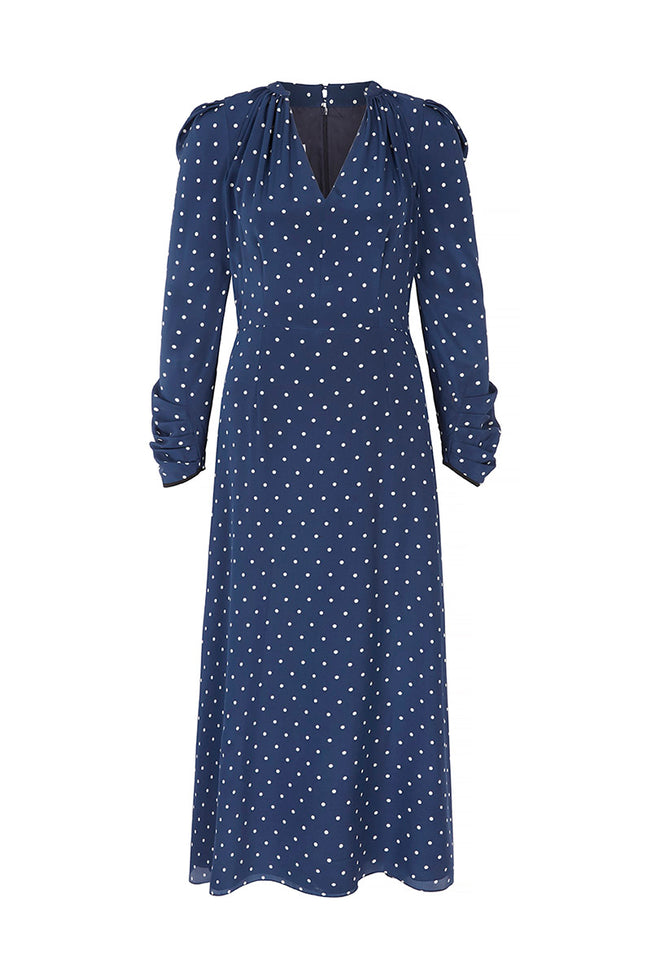 Valerie Midi Dress Polka Dots