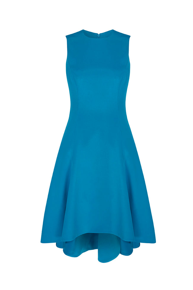 Silk Showstopper Dress Turquoise