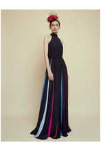 Load image into Gallery viewer, The Halter Rainbow Collins Dress