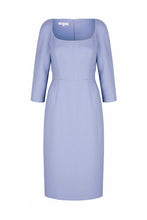 Load image into Gallery viewer, Selena Wool Crepe Shift Dress Cornflower Blue