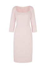 Load image into Gallery viewer, Selena Wool Crepe Shift Dress Pink