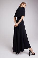 Load image into Gallery viewer, Long Showstopper Capelet Dress Black